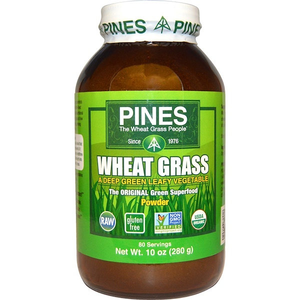 Pines International, Wheat Grass Powder, 10 oz (280 g)
