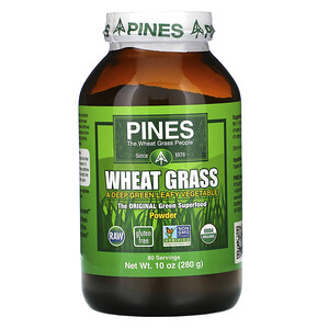 Пинес Интернатиональ, Wheat Grass Powder, 10 oz (280 g) отзывы