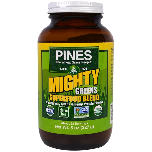 Pines International, Mighty Greens Superfood Blend, 8 oz (227 g) (Discontinued Item)
