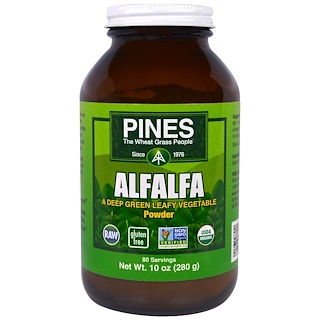 Pines International, Alfalfa Powder, 10 oz (280 g)