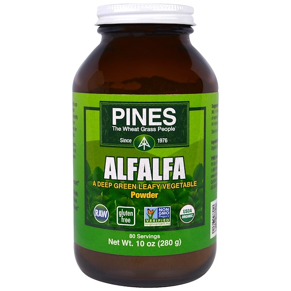 Pines International, Alfalfa Powder, 10 oz (280 g) (Discontinued Item)