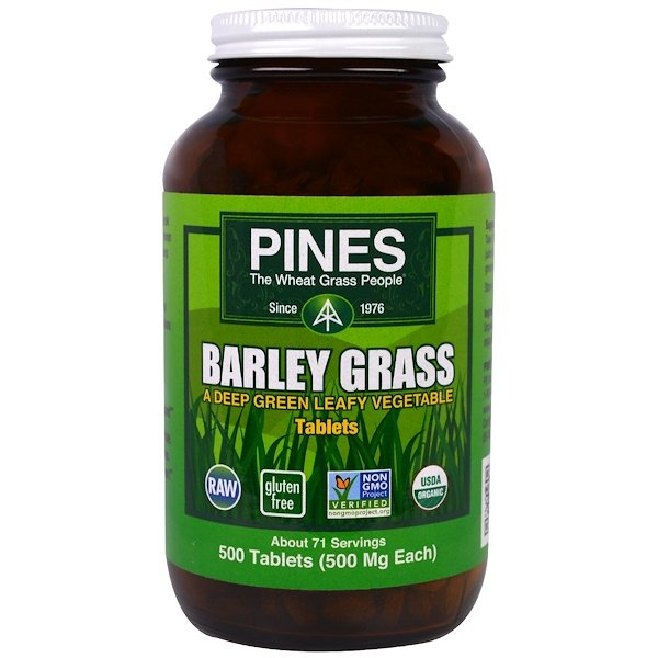 Pines International, Barley Grass, 500 Tablets
