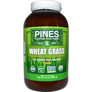 Pines International, Pines Wheat Grass, Powder, 24 oz (680 g)