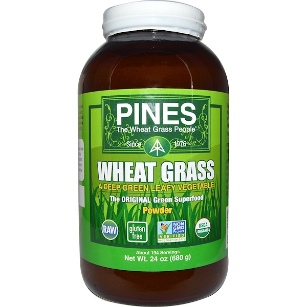 Pines International, Pines Wheat Grass, Powder, 1.5 lbs (680 g)