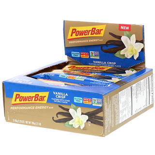 PowerBar, Performance Energy, Vainilla Crocante, 12 barras, 2,29 oz (65 g) cada una