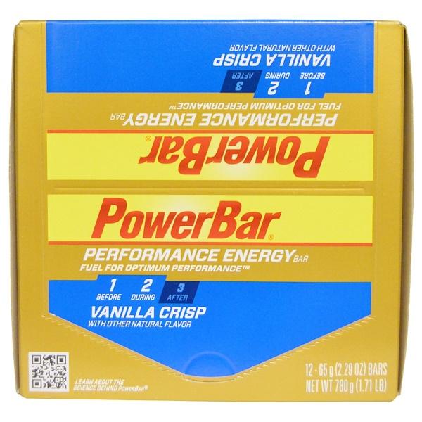 PowerBar, 性能能量,香草酥,12個營養條,每條2、29盎司(65克)