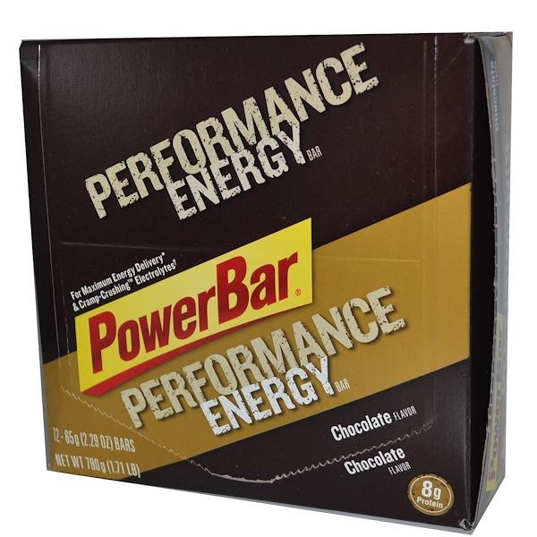 PowerBar, Performance Energy, шоколадные, 12 батончиков по 2,29 унции (65 г)