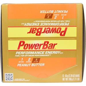 Повер Бар, Performance Energy, Peanut Butter, 12 Bars, 2.29 oz (65 g) Each отзывы