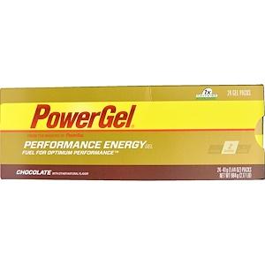 Повер Бар, PowerGel, Chocolate, 24 Gel Packs, 1.44 oz (41 g) Each отзывы