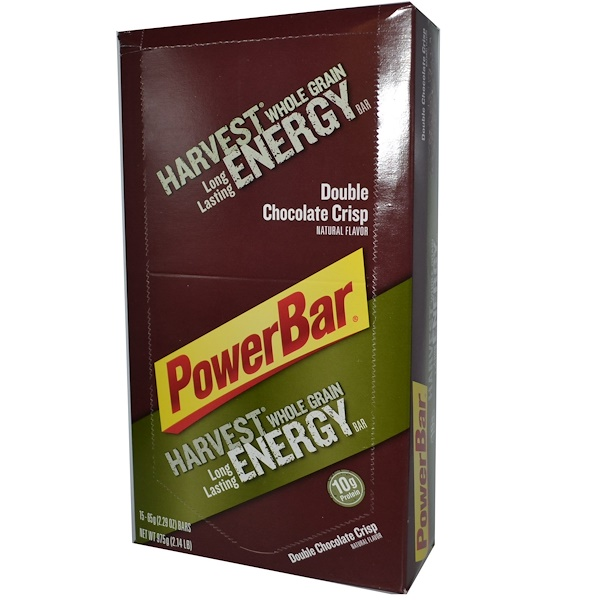 PowerBar, Harvest Whole Grain Long Lasting Energy Bar, Double Chocolate Crisp, 15 Bars, 2.29 oz (65 g) Each (Discontinued Item)