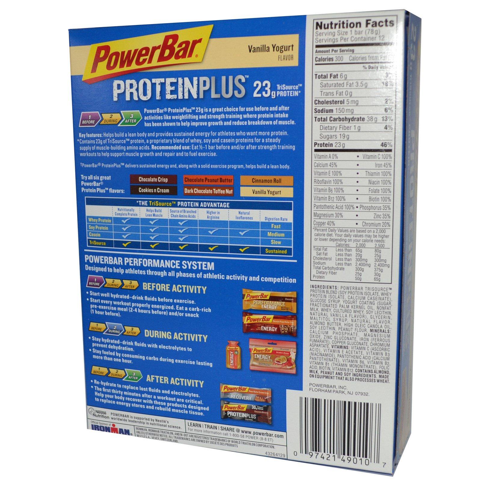 PowerBar, Protein Plus Bar, Vanilla