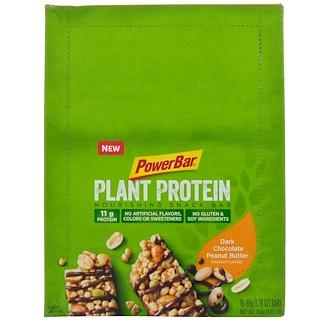 PowerBar, Plant Protein, Dark Chocolate Peanut Butter, 15 Bars, 1.76 oz (50 g) Each