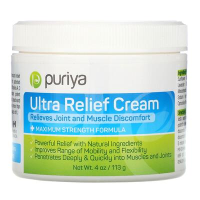 Купить Puriya Ultra Relief Cream, 4 oz (113 g)