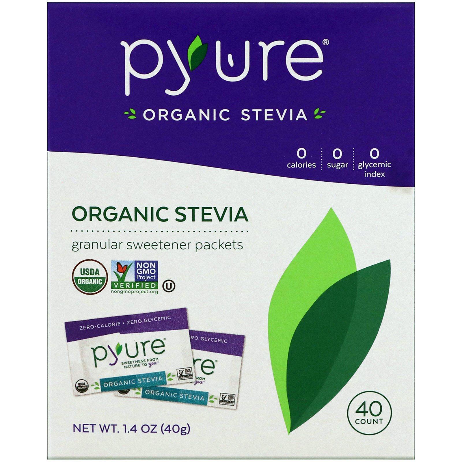 Pyure stevia sweetener