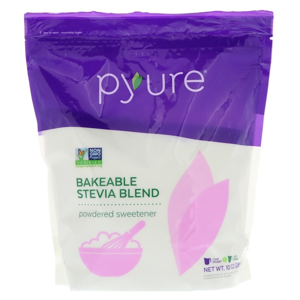 Pyure, Bakeable Stevia Blend Powdered Sweetener, 10 oz (284 g)
