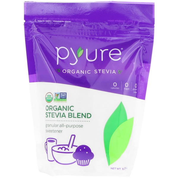 Pyure, Organic Stevia Blend, Granular All-Purpose Sweetener, 16 oz (454 g)