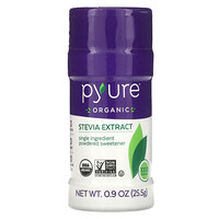 Pyure, Organic Stevia Extract, Powdered Sweetener, 0.9 oz (25.5 g)