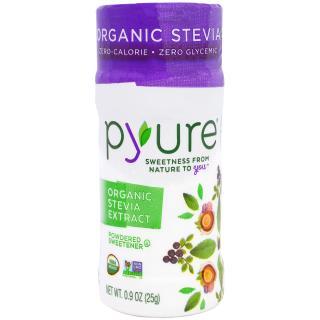 Pyure, オーガニックステビアエキス、粉末甘味料、25g