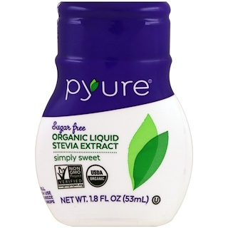 Pyure, Organic Liquid Stevia Sweetener, Simply Sweet, 1.8 fl oz (53 ml)
