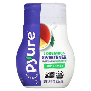 Pyure, Organic Liquid Stevia Sweetener, Simply Sweet Sugar Substitute, Keto, 1.8 fl oz (53 ml)