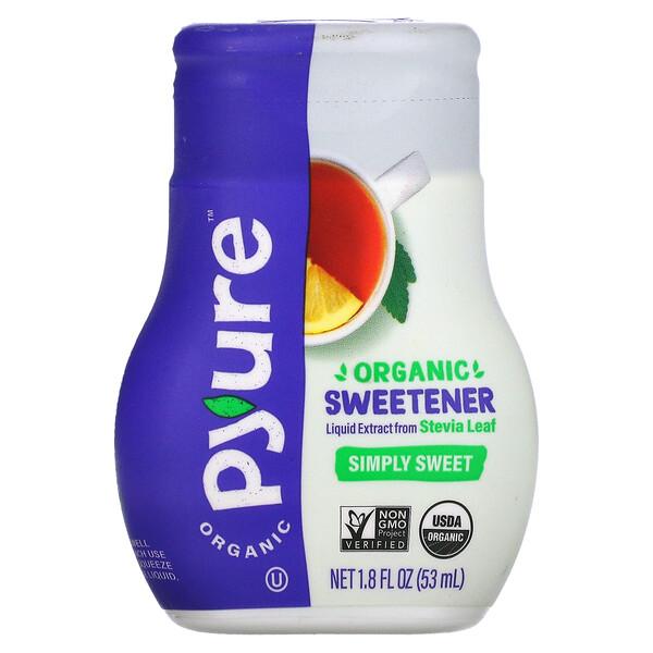 Organic Sweetener, Liquid Extract from Stevia Leaf, Simply Sweet, 1.8 fl oz (53 ml)