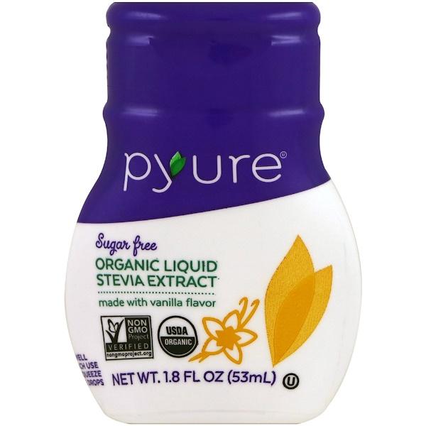 Pyure, 有機甜葉菊萃取液,香草味,1、8 液體盎司(53 毫升)