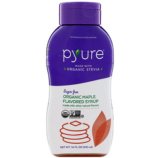 Pyure, Organic Sugar-Free Maple Flavored Syrup, 14 fl oz (415 ml)