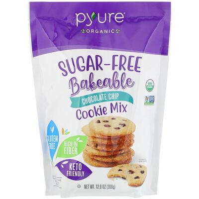 Купить Pyure Organic Bakeable, Sugar-Free Cookie Mix, Chocolate Chip, 12.9 oz (368 g)