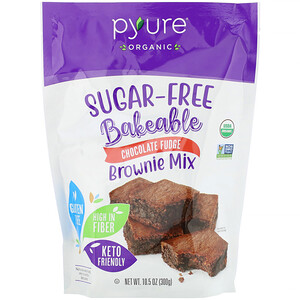 Pyure, Organic Bakeable, Sugar-Free Brownie Mix, Chocolate Fudge,  10.5 oz (300 g)