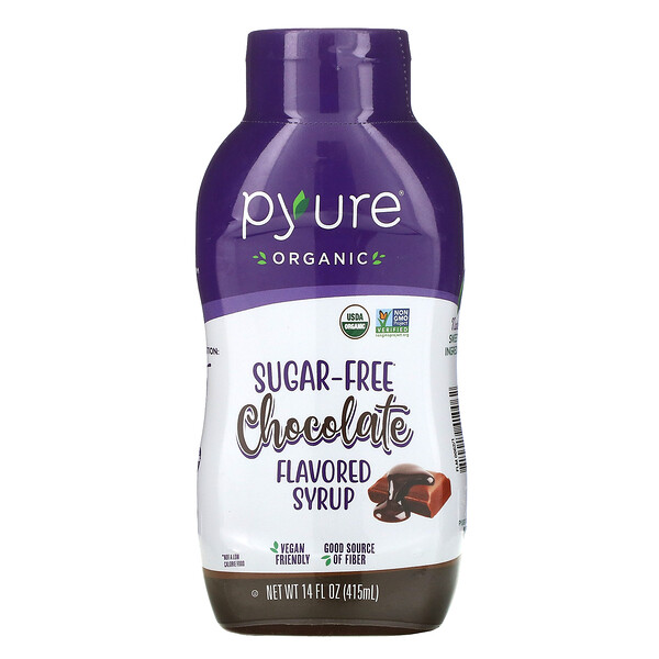 Organic Sugar-Free Chocolate Flavored Syrup, 14 fl oz (415 ml)