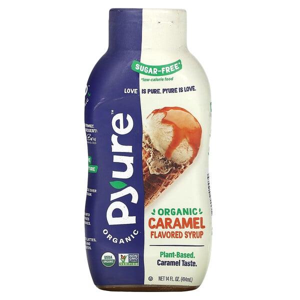 Organic Sugar-Free Caramel Flavored Syrup, 14 fl oz (415 ml)