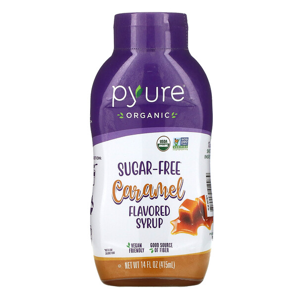 Pyure, Organic Sugar-Free Caramel Flavored Syrup, 14 fl oz (415 ml)