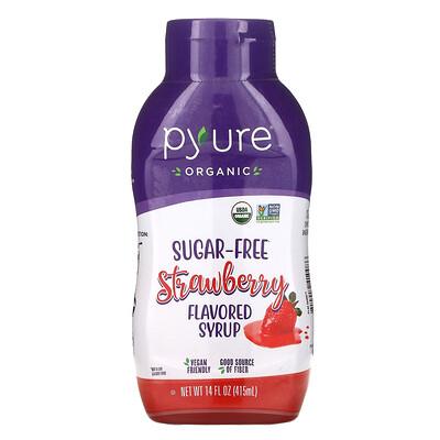 Купить Pyure Organic Sugar-Free Strawberry Flavored Syrup, Sugar-Free, 14 fl oz (415 ml)