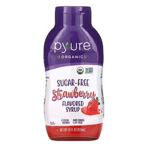 Пуре Брандс, Organic Sugar-Free Strawberry Flavored Syrup, 14 fl oz (415 ml) отзывы