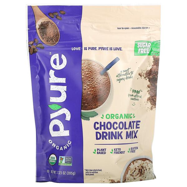 Organic Chocolate Drink Mix, Sugar Free, 7.23 oz (205 g)