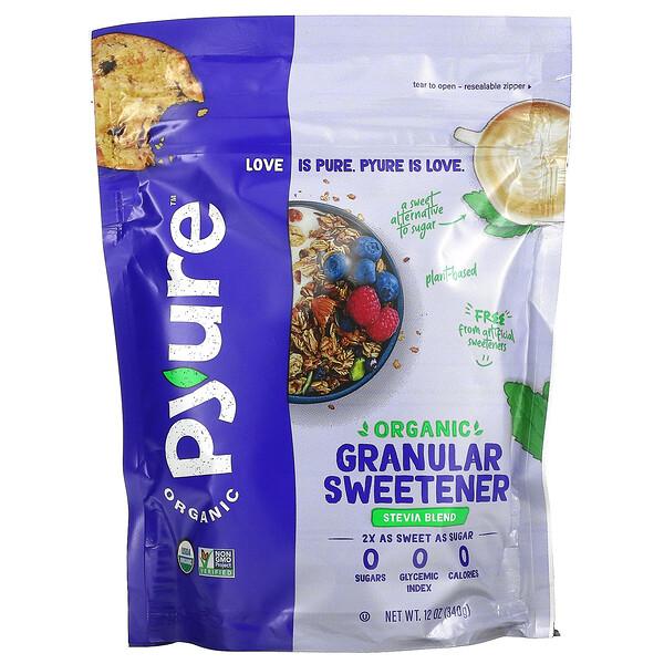 Pyure, Organic Granular Stevia Sweetener Blend, All-Purpose Sugar Substitute, Keto, 12 oz (340 g)