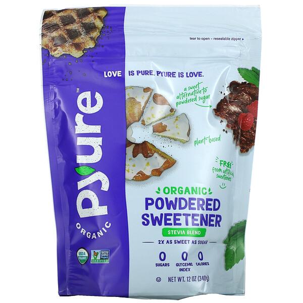 Organic Powdered Stevia Sweetener Blend, Confectioners Sugar Substitute, Keto, 12 oz (340 g)