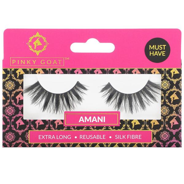 Amani, Extra Long False Eyelashes, 1 Pair
