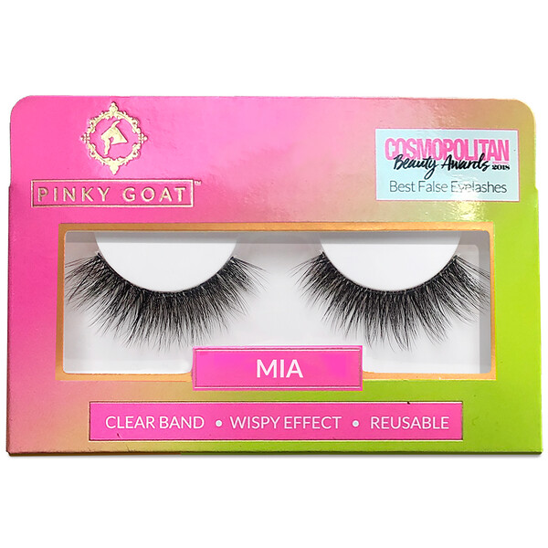 Pinky Goat, Mia, Wispy Effect False Eyelashes, 1 Pair