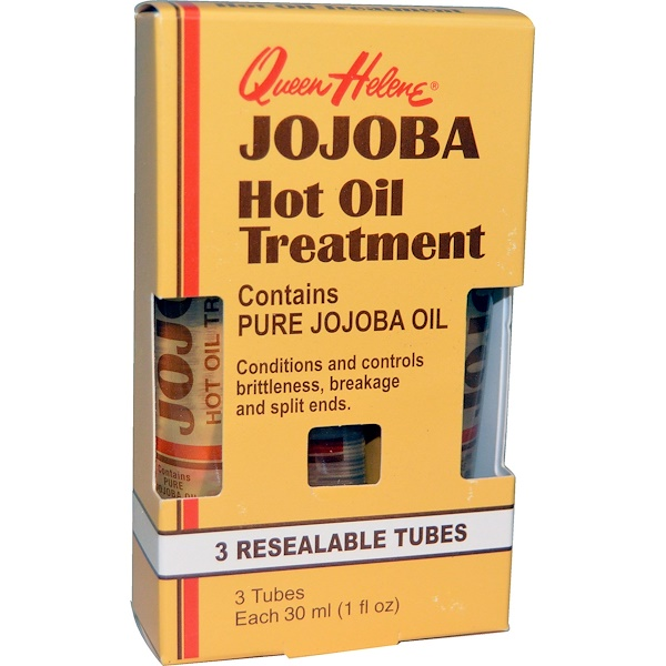Queen Helene, Jojoba Hot Oil Treatment, 3 Resealable Tubes, 1 fl oz (30 ml) Each (Discontinued Item)