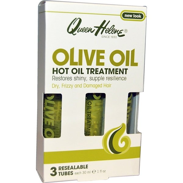 Queen Helene, Hot Oil Treatment, Olive Oil, 3 Tubes, 1 fl oz (30 ml) Each (Discontinued Item)