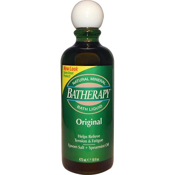 Queen Helene, Batherapy, Natural Mineral Bath Liquid, Original, 16 fl oz (473 ml) (Discontinued Item)