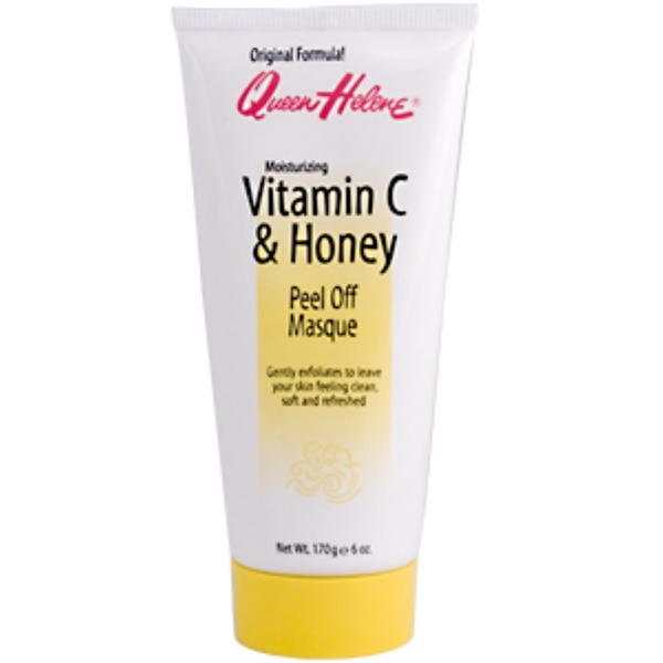 Queen Helene, Vitamin C & Honey, Peel Off Masque, Moisturizing, 6 oz (170 g) (Discontinued Item)