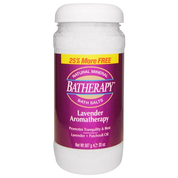 Queen Helene, Batherapy, Natural Mineral Bath Salts, Lavender Aromatherapy, 20 oz (567 g) (Discontinued Item)