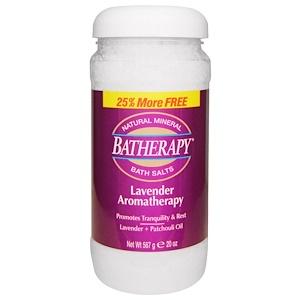 Квин Хелен, Batherapy, Natural Mineral Bath Salts, Lavender Aromatherapy, 20 oz (567 g) отзывы