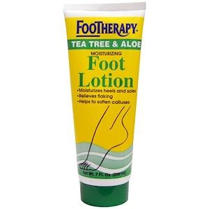 Квин Хелен, FooTherapy, Moisturizing Foot Lotion, Tea Tree & Aloe, 7 fl oz (200 ml) отзывы