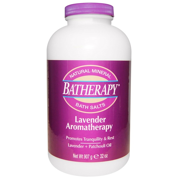 Queen Helene, Batherapy, Natural Mineral Bath Salts, Lavender Aromatherapy, 32 oz (907 g) (Discontinued Item)