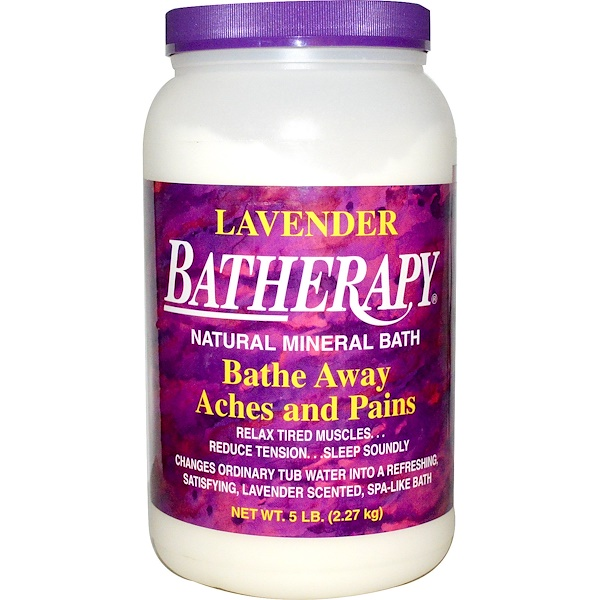 Queen Helene, Batherapy, Natural Mineral Bath, Lavender, 5 lbs (2.27 kg) (Discontinued Item)