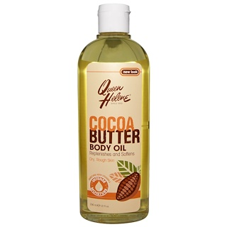 Queen Helene, Cocoa Butter Body Oil, Enriched With Vitamin E, 10 fl oz (296 ml)