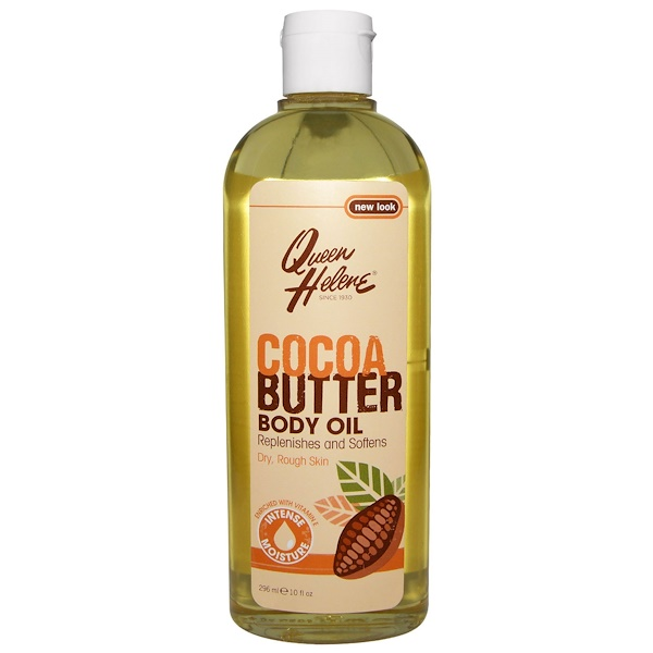 Queen Helene, Cocoa Butter Body Oil, Enriched With Vitamin E, 10 fl oz (296 ml) (Discontinued Item)